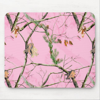 Pink Camo Camouflage Hunting Girl Real Mouse Pad