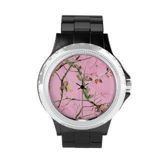 Pink Camo Camouflage Hunting Girl Real Tree Watch Watches