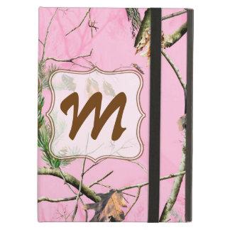 Pink Camo Camouflage Monogram Initial IPAD Case