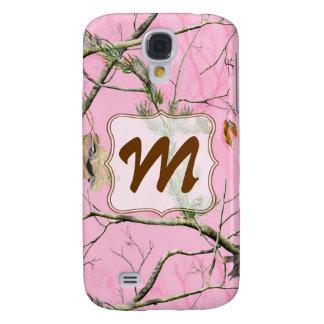Pink Camo Camouflage Monogram Samsung Galaxy S4 Samsung Galaxy S4 Case