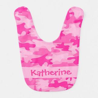 Pink Camo Camouflage Name Personalized Bib
