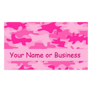 Pink Camo Camouflage Name Personalized Business Card