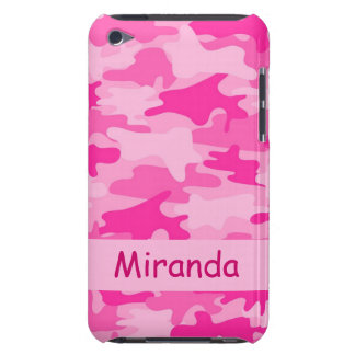 Pink Camo Camouflage Name Personalized Case-Mate iPod Touch Case