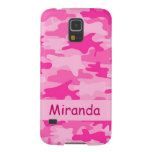 Pink Camo Camouflage Name Personalized Galaxy S5 Covers