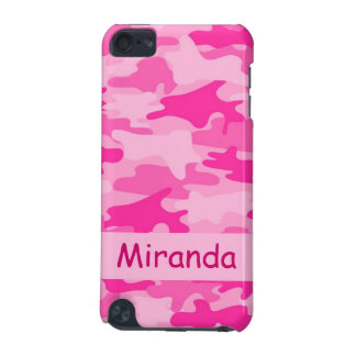 Pink Camo Camouflage Name Personalized iPod Touch (5th Generation) Covers