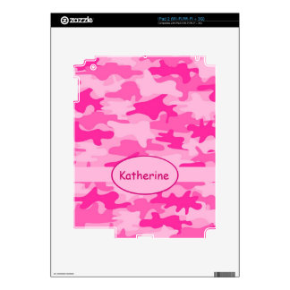 Pink Camo Camouflage Name Personalized iPad 2 Skins