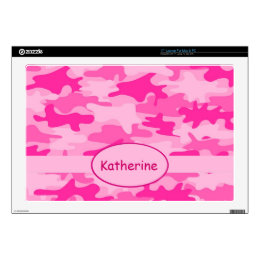 Pink Camo Camouflage Name Personalized Laptop Decal