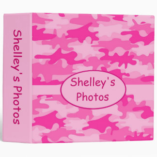 Pink Camo Camouflage Personalized Album Notebook Binder