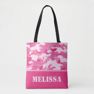 Pink Camo (Camouflage) | Personalized Tote Bag