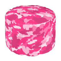 pink camo,camouflage round pouf