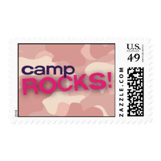 Pink Camo CAMP ROCKS! Stamp