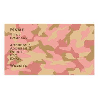 Pink Camo Contact Card Profile Card Business Cards