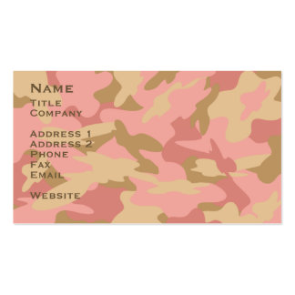 Pink Camo Contact Card / Profile Card Double-Sided Standard Business Cards (Pack Of 100)