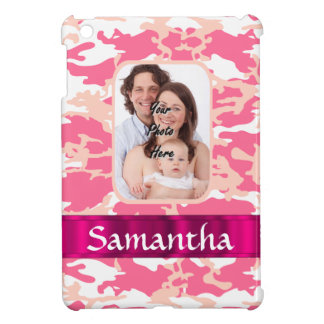 Pink camo cover for the iPad mini