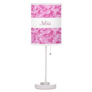 PINK Camo Custom Name V085L Lamps