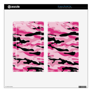 Pink Camo Decal For Kindle Fire