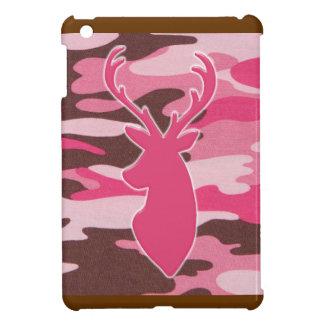 Pink camo deer head iPad mini case