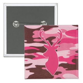 Pink camo deer head pins