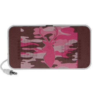 Pink camo deer head speaker system
