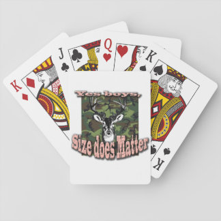 Pink Camo Deer Hunting Size Matters Playing Cards