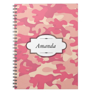Pink Camo Design Personalized Notebook