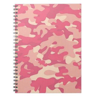 Pink Camo Design Spiral Notebook