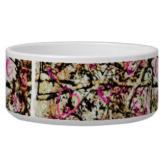 Pink Camo Dog Food Dish