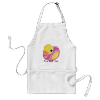 Pink Camo Ducky Adult Apron