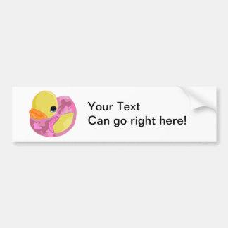 Pink Camo Ducky Bumper Sticker