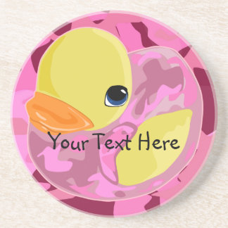 Pink Camo Ducky Coaster