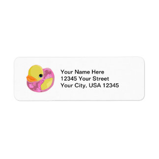 Pink Camo Ducky Return Address Label
