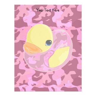 Pink Camo Ducky Letterhead
