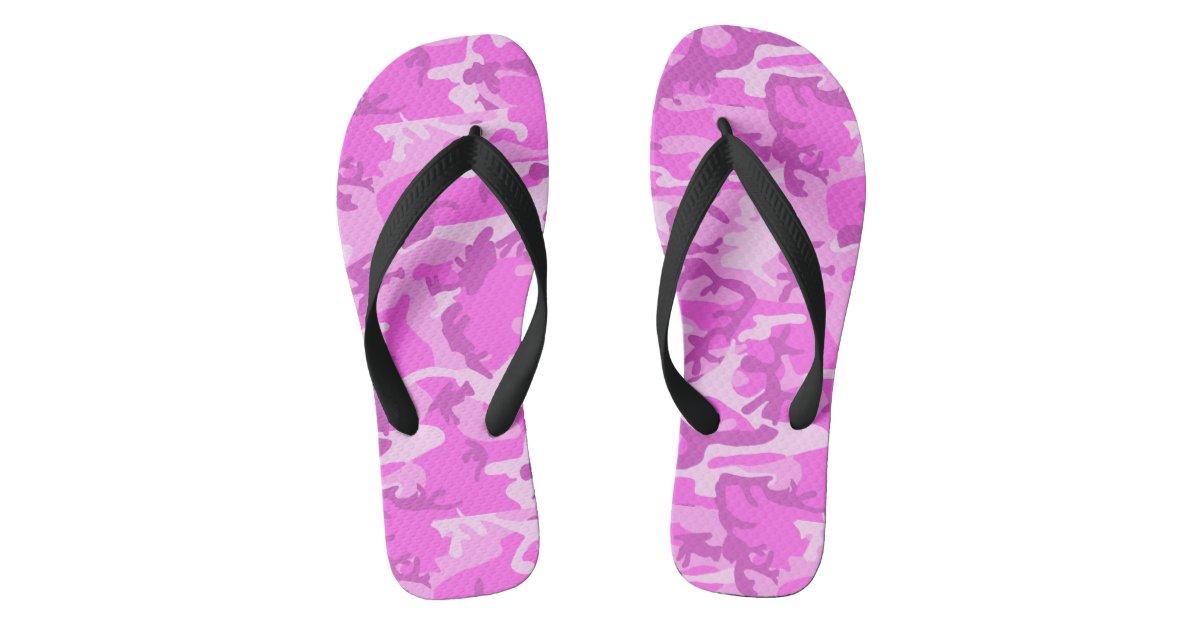 6bc7c9296344 ... Pink Camo Flip Flops Zazzle.com  Thailand Pink Slippers ...