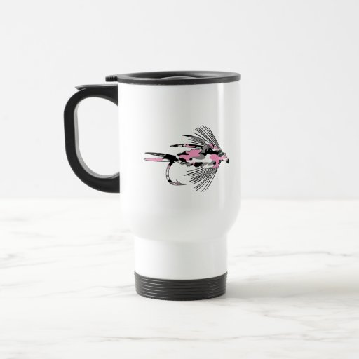 Pink Camo Fly Fishing Lure Coffee Mug
