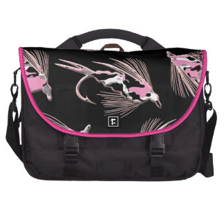 Pink Camo Fly Fishing Lure Bags For Laptop