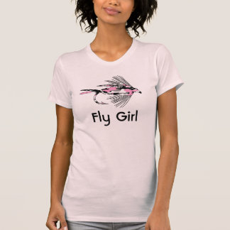 Pink Camo Fly Fishing Lure T Shirt