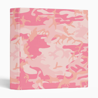 Pink Camo - Girly Camo 3 Ring Binder
