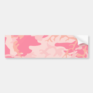 Pink Camo - Girly Camo Bumper Sticker