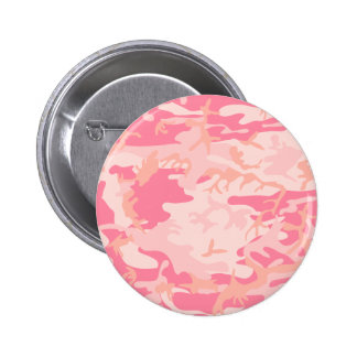 Pink Camo - Girly Camo Pinback Buttons
