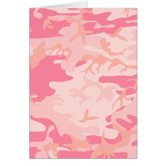 Pink Camo - Girly Camo Card