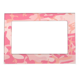 Pink Camo - Girly Camo Magnetic Picture Frames