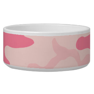 Pink Camo - Girly Camo Dog Food Bowls