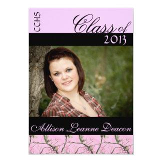 Pink Camo graduation announcement