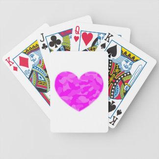 Pink Camo Heart Poker Deck