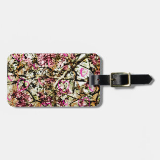 Pink Camo & Hearts Bag Tag