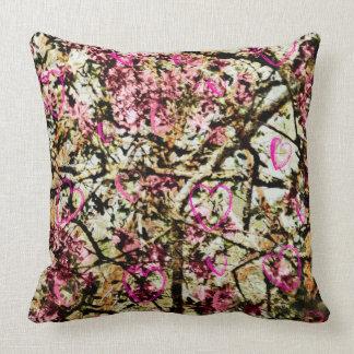 Pink Camo & Hearts Pillow