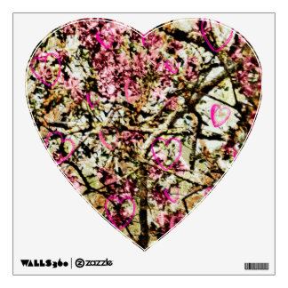 Pink Camo & Hearts Wall Decal