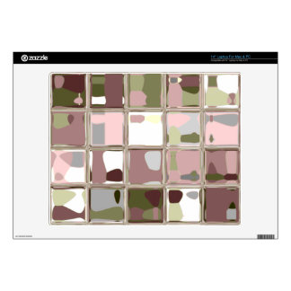 "Pink Camo Hunter Mosaic Squares Protective Skin Skins For 14"" Laptops"