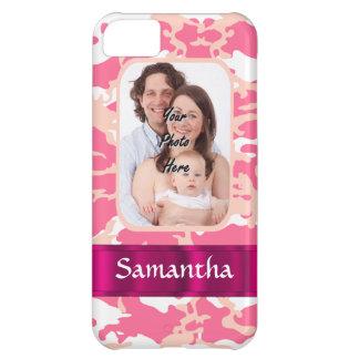 Pink camo iPhone 5C case