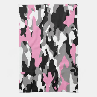 Pink Camo Kitchen Towel